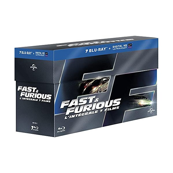 fast and furious coffret 7 films blu ray copie digitale blu ray bluray mania. Black Bedroom Furniture Sets. Home Design Ideas